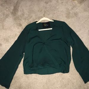 Blue Life Hayley long sleeve top in green